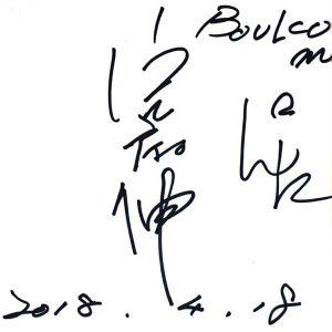 宅麻伸さんのサイン
